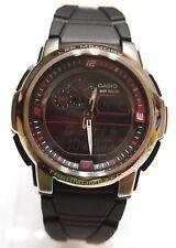 CASIO AQF-102W-1 OUTGEAR THERMOMETER WR Black Watch 100% Original Brand New NIB