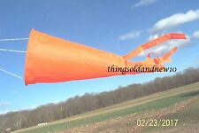 KITE FLYING SALE:2-Kite Windsocks,Orange:Acc.,Outdoor,Beach,Toy,Gift,Wind Gauge