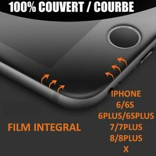 VITRE FILM VERRE TREMPE INTEGRAL POUR APPLE IPHONE AU CHOIX IPHONE X/6/7/8 PLUS