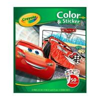 CRAYOLA CARS 3 COLOUR AND STICKER 32 PAGE COLOURING ACTIVITY BOOK WITH STICKERS