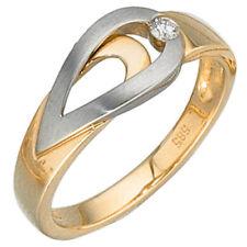 Diamant Echtschmuck-Ringe aus Weißgold mit P1 Reinheit