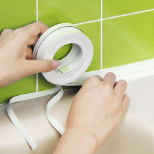 Wall Sealing Tape Waterproof Mold Proof Adhesive Tape Kitchen Bathroom White UK