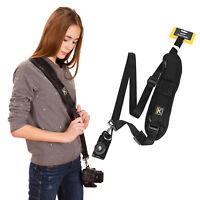 Black Camera Belt Single Neck Shoulder Strap Sling for DSLR Sony Canon Nikon New