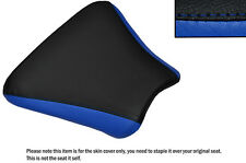 Diseño 2 Negro & R Azul personalizado se adapta a Honda Cbr 250 Mc 22 Frontal De Cuero Funda De Asiento