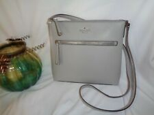 Kate Spade Jackson Top Zip Crossbody Handbag Nimbus Grey Pebbled Leather