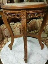 Small Accent Round Table with Marble Top