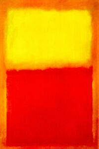 Mark Rothko Yellow orange Abstract Canvas wall art large 20 x 30 Inch A1 Modern