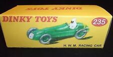 Dinky 235 H.W.M. Racing Car Empty Repro Box Only