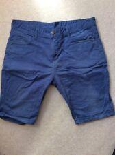 "Para Hombre Denim Co Azul Largo Pantalones Cortos Vaqueros Tipo de algodón de 46 euros-cintura 36"""