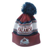 Colorado Avalanche Nhl Reebok Youth Boys (8-20) Cuffed Pom Knit Winter Beanie