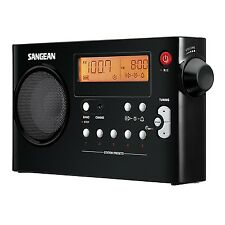 Sangean PR-D7 AM/FM Compact Digital Tuning Rechargeable Portable Radio Black New