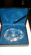 VINTAGE 1960's PLAYBOY BUNNY CRYSTAL  PAPER WEIGHT HAND CUT ETCHED  PEAR SHAPED