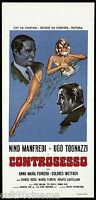Controsesso Film Cinema Manfredi Tognazzi Comedy 1964 Playbill Poster