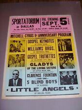 GOSPEL KEYNOTES,WILLIAMS BROS,GOSPEL TRUTHETTES,5 BLIND BOYS,ETC.,1980 POSTER