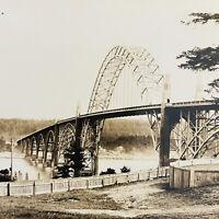 Vintage (1930s) Yaquina Bay Bridge, Newport, Oregon Real Photo Postcard