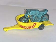 VINTAGE MATCHBOX LESNEY 1-75 TOY MODEL NO 38 HONDA MOTORCYCLE & TRAILER