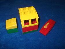 Lego Duplo Eisenbahn für E-LOK Diesellok Führerhaus Grün Rot + Stein + Codestein