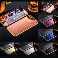 Mirror Tempered Glass Front+Back Screen Protector Film For iphone 6 6S Plus SE