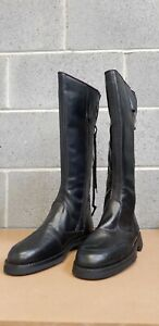 Genuine Italian Leather Ex Police Motorcycle/Horseriding Boot Size 46
