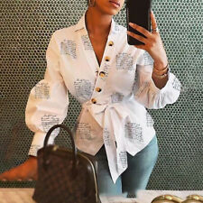 Women Tops Ladies Blouse Business Long Sleeve Office Lantern Blouse With Lapel
