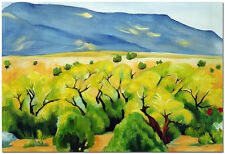 Cottonwood Landscape - Hand Painted Georgia O'Keeffe Oil Painting On Canvas