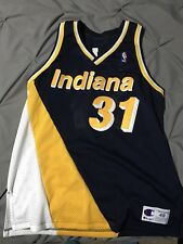 Vintage Authentic Reggie Miller Champion Indiana Pacers NBA Jersey Size 48 XL