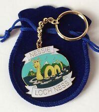 Scotland Loch Ness Monster Nessie Enamel Keyring in Organza Gift Pouch Ideal ...