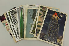 14 Vintage Linen Color Photo Postcards Used Souvenir Midwest Chicago IA MN WI