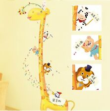 Huge Happy Giraffe Bears Birds Musical Notes Children's Height Growth Chart