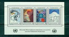 "Nations Unies  Vienne 1986 - Michel n. 64/67 - feuillet n.3  -  ""WFUNA"""