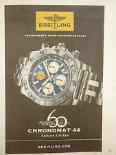 2013 PUB MONTRE BREITLING SWISS WATCH UHR PATROUILLE DE FRANCE CHRONOMAT 44 AD