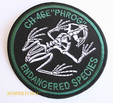 CH-46 SEA KNIGHT ENDANGERED SPECIES PATCH US MARINES BATTLE PHROG PIN UP MAW MAG