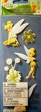 NEW 5 pc Disney TINKER BELL Fairy Tinkerbell Flower  3D Stickers  EK SUCCESS
