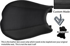 BLACK CUSTOM FITS DUCATI 848 1098 1198 LEATHER  SEAT COVER FRONT