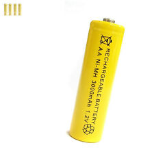 4 pcs AA 2A 3000mAh 1.2V Ni-MH rechargeable battery Solar Light MP3 Toy Yellow
