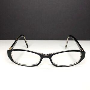JG Hook Abigail Eyeglasses Frames Black Mother of Pearl 52-17-140 Curved Temple