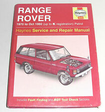 Reparaturanleitung Range Rover Classic 3,5 + 3,9 liter V8, Baujahre 1970 - 1992