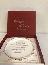 """Bangles from Heaven Fine Silver Plate """"Mothers hold their children's hands..."""