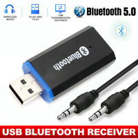USB Bluetooth 5.0 Audio Receiver Adapter Wireless Music 3.5mm Dongle AUX A2DP