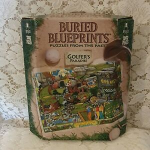 Buried Blueprints Puzzles From The Past Golfers Paradise 1000 Piece Jigsaw 1998