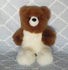 New 100% Baby Alpaca 12� Teddy Bear Soft Fluffy Cuddly White and Brown Amazing