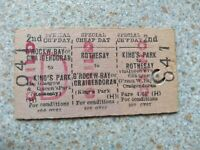 British Rail 3 Journey Edmondson Ticket Train & Ferry 3 Way UNUSUAL & VERY RARE