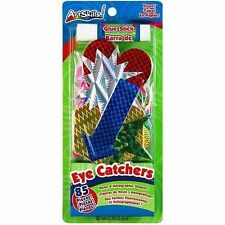 ArtSkills 85-Pack Eye Catchers Neon and Holographic Shapes with Glue Stick