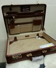 Genuine 100% Leather Executive Cognac Attache Case / Briefcase .