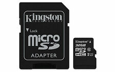 32gb Kingston micro sd Scheda di memoria Class 10 con SD-Adattatore 45mb/r 10mb