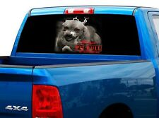 P518 Pit Bull Rear Window Tint Graphic Decal Wrap Back Truck Tailgate