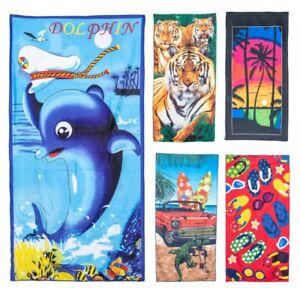 Large Microfibre Beach Bath Towel Lightweight Sports Travel Gym Summer Towels