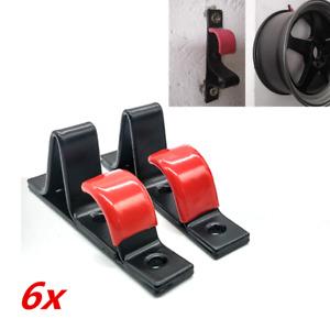 6x Wheel Rim Display Hook Slat Metal Clip 13-22inch Rim Wall Hanger Auto Garage