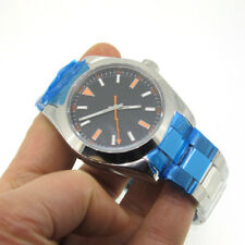40mm Parnis Sapphire Glass Automatic Movement Men Watch Stainless Steel Bracelet