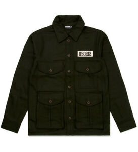 Men's UNDEFEATED U50 Jacket Olive Green Wool Blend size XL $133